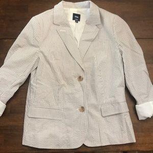 Gap women's seersucker blazer. Excellent shape
